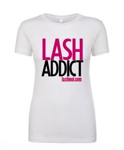 Lash Addict WhiteTee